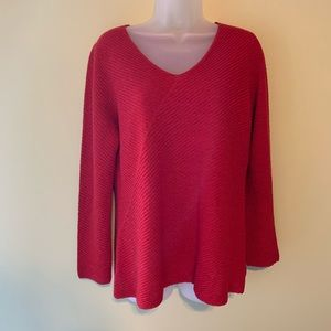 Eileen Fisher 100% Wool Sweater, Size Medium